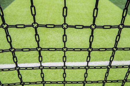 Chain wall background around the playground Stockfoto - 133459200