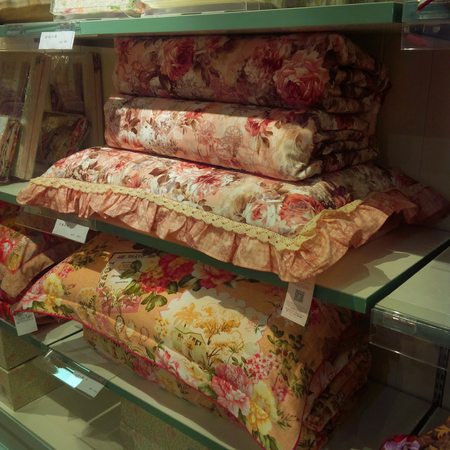 pillow case: Pillow case and pillow selling in a store