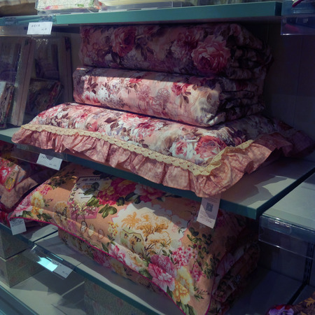 soft sell: Pillow with pillow case selling in a store
