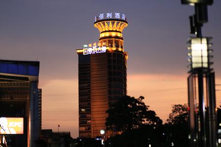 hotel building: Night Kimberly hotel building