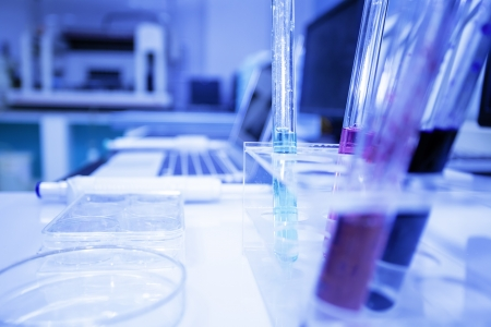 medical research in pharmaceutical factory laboratory  Stock Photo