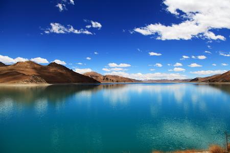 Yambdrok lake Stock Photo