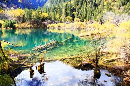 Jiuzhaigou landscape scenery view