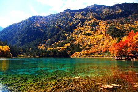 Jiuzhaigou landscape view