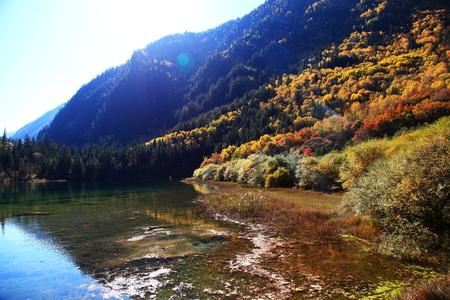 Jiuzhaigou scenery landscape view Stock Photo