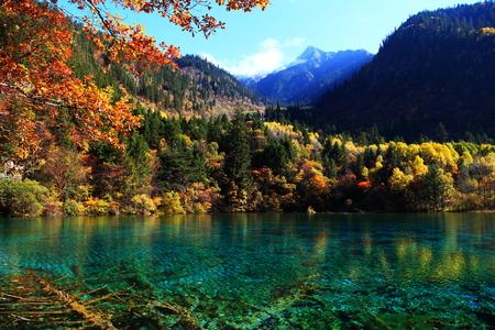 jiuzhaigou scenic spot Stock Photo