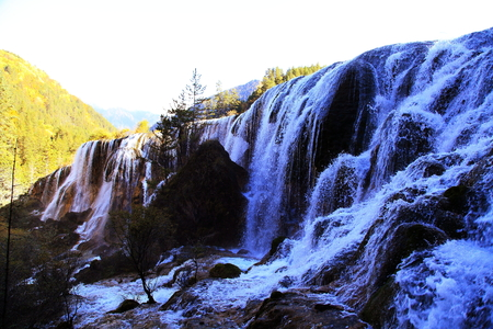 Jiuzhaigou waterfalls