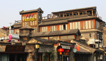 Traditional shops in Houhai, China