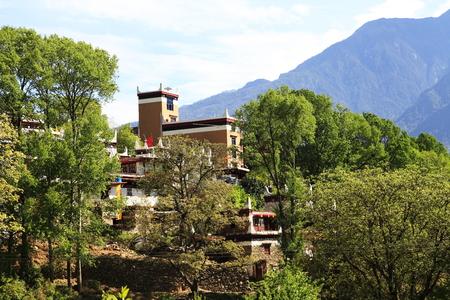 Danba tibetan Village Foto de archivo