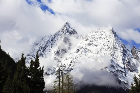 Shuangqiaogou Hunter Peak Stok Fotoğraf