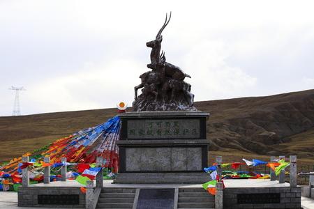 sculpture in Kekexili, Tibet
