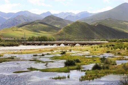 Scenery of Men Yuan Wetland Banco de Imagens