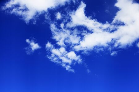 Blue sky and white clouds Banco de Imagens