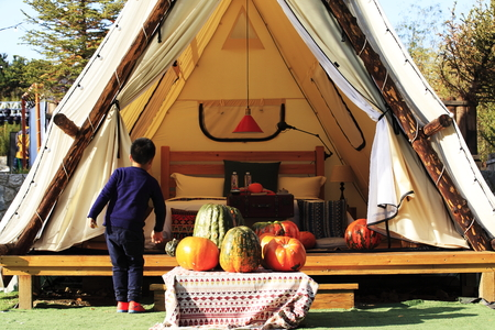 Leisure tent at jiu Rushan scenic area