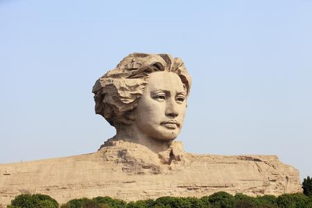 Young Mao Zedong statue