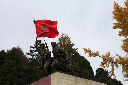 Workers and Peasants Red Army sculpture