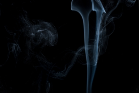 Abstract smoke isolated on black background Stock Photo - 14967805