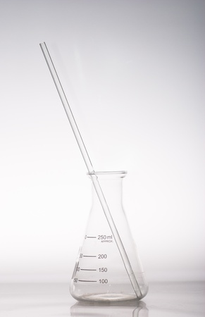 hypothesis: a triangular flask with glass rod