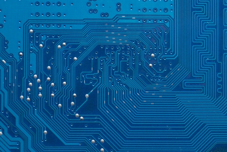 microprocessor: Electronic circuit board Stock Photo