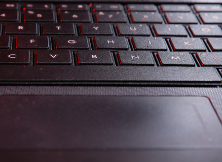 Close up of keyboard of a laptop photo