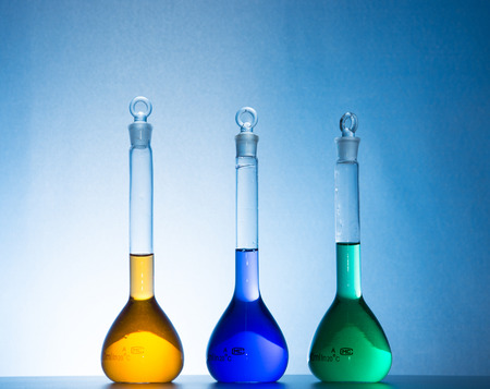 hypothesis: glass laboratory apparatus with color water Editorial