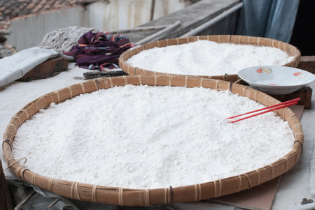 feast: The rice flour be prepared for facture rice cake in Chinese traditional feast