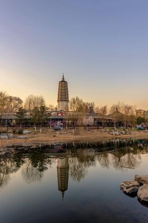 Liaoning Shenyang Huanggu Stainless Net Light Stupa