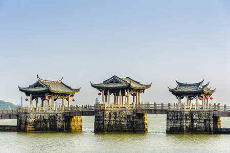 Guangdong Chaozhou Guangji Bridge 版權商用圖片