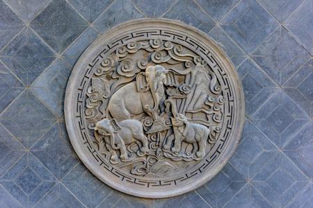 Buddhist pattern relief
