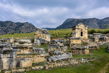 Ruins of the ancient city of Hierapolis, Pamukkale, Turkey