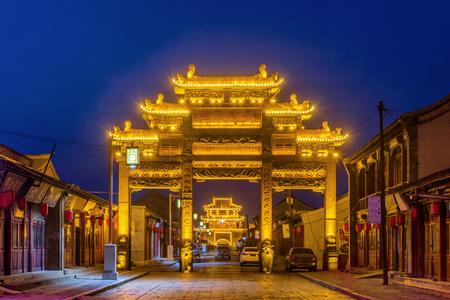 Night view of Zushi Shifang, Xingcheng Ancient City, Huludao, Liaoning