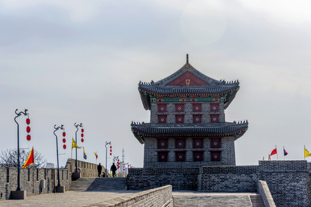 Wangyang Building, South Gate of Shanhaiguan Ancient Pass, Qinhuangdao, Hebei