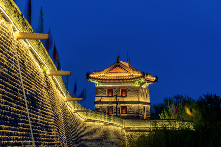 Night Scenery of Shanhaiguan Shepherd Building, Qinhuangdao, Hebei