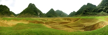 landforms: A dried lake in Guangxi, China