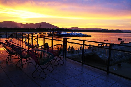 and sanya: Sanya City, Hainan province China Haitang Bay scenery