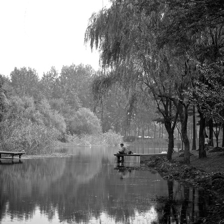 leisurely: Leisurely fishing