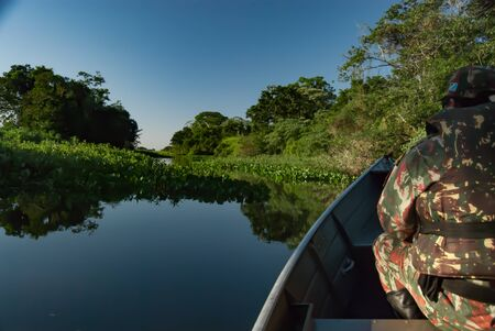 Surveillance to combat illegal fishing in the Ivinhema River Floodplains State Park, Mato Grosso do Sul, Brazil.
