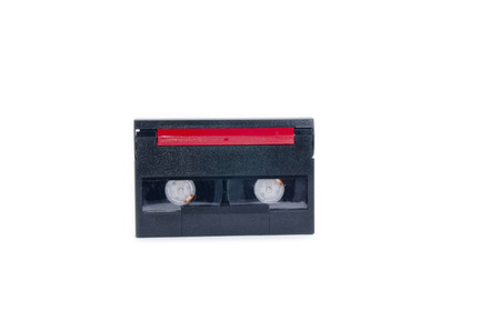 videocassette: old and dusty tape cassette