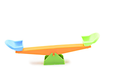 totter: image of balance position seesaw isolated white background