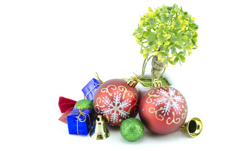 festive pine cones: christmas ornament isolated on white background