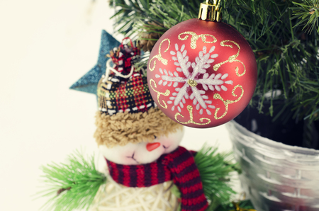 fabrick: closeup image of santa claus with christmas decoration