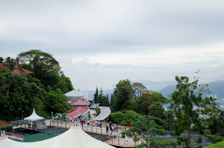 bukit: PENANG, MALAYSA-31 DECEMBER 2011: beautiful scenery penang hill with cloudy sky.Penang Hill is most famous attraction in Penang.