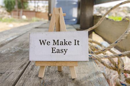 make it easy afvallen