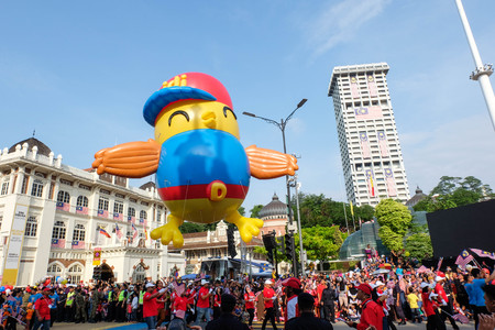 KUALA LUMPUR, MALAYSIA: 31 AUGUST 2016 - Malaysian Independence Day Parade on August 31, 2016 is held in commemoration of Malaysias Independence Day at Dataran Merdeka.