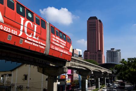 KUALA LUMPUR, MALAYSIA - April 9: KL Monorail in the Kuala Lumpur City Center on 9 april 2017