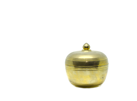 potpourri: Antique brass pot for malay ethnic in malaysia to put potpourri during wedding and engagement