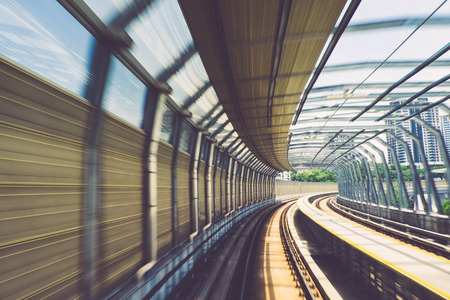Motion effect of special design bridge Malaysian Mass Rapid Transit railway trek