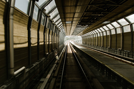 Malaysian Mass Rapit Transit for new generation transportation. motion blur effect Stock Photo