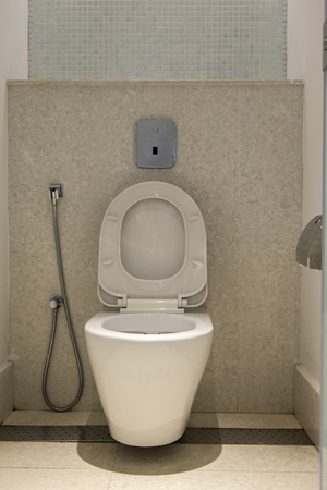 Modern and contemporary interior of public restroom,