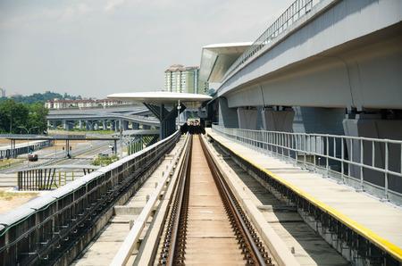 Malaysian Mass Rapif Transit for new generation transportation Stock Photo